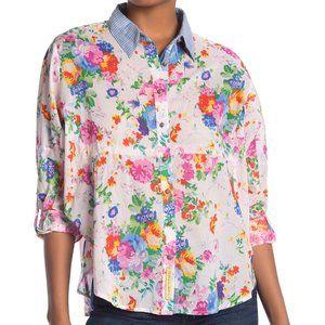 ARATTA Ibises Shirt Blouse Floral L